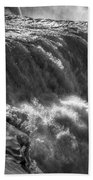 0010a Niagara Falls Winter Wonderland Series Bath Towel