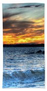 0015 Awe In One Sunset Series At Erie Basin Marina Bath Towel