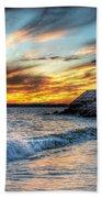0016 Awe In One Sunset Series At Erie Basin Marina Bath Towel