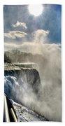 002 Niagara Falls Winter Wonderland Series Bath Towel