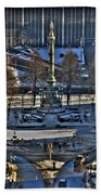 0037 Birdseye View Of Lafayette Square Bath Towel