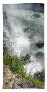 004 Niagara Falls Misty Blue Series Bath Towel