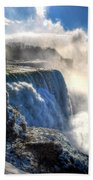 004 Niagara Falls Winter Wonderland Series Bath Towel