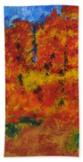 032 Abstract Landscape Bath Towel
