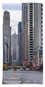 0525 Lasalle Street Bridge Chicago Bath Towel