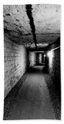 Image Of The Catacomb Tunnels In Paris France Bath Towel