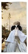 Japanese Chin Art Canvas Print  Bath Towel