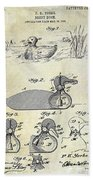 1902 Duck Decoy Patent Drawing Hand Towel