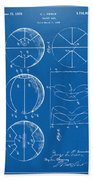 1929 Basketball Patent Artwork - Blueprint Bath Towel