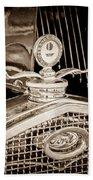 1931 Model A Ford Deluxe Roadster Hood Ornament Bath Towel