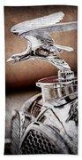 1932 Alvis Hood Ornament - Emblem Bath Towel