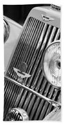 1939 Aston Martin 15-98 Abbey Coachworks Swb Sports Grille Emblems Bath Towel