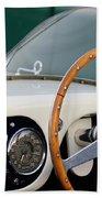 1953 Ferrari 340 Mm Lemans  Spyder Steering Wheel Emblem Bath Towel