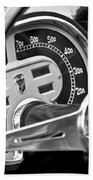 1953 Fiat 8v Ghia Supersonic Steering Wheel Bath Towel