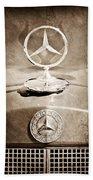 1953 Mercedes Benz Hood Ornament Bath Towel