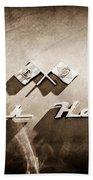 1953 Nash-healey Roadster Emblem Bath Towel