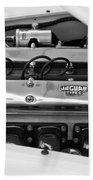 1955 Jaguar Engine Bath Towel