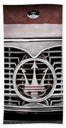 1958 Maserati Hood - Grille Emblem Bath Towel