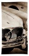 1960 Maserati Grille Emblem Bath Towel