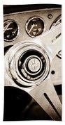 1960 Maserati Steering Wheel Emblem Bath Towel
