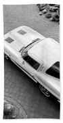 1963 Chevrolet Corvette Split Window -440bw Bath Towel