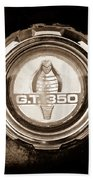 1966 Ford Mustang - Cobra Gt 350 Emblem Bath Towel