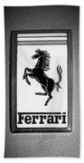 1967 Ferrari 330 Gts Emblem Bath Towel