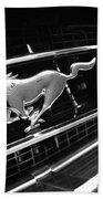 1967 Ford Mustang Gt Grille Emblem Bath Towel