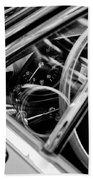 1969 Lamborghini Islero Steering Wheel Emblem Bath Towel