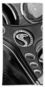 1969 Shelby Gt500 Convertible 428 Cobra Jet Steering Wheel Emblem Bath Towel