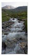 A Mountain Stream In Vanoise National Bath Towel
