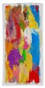 Abstract Colors Bath Towel