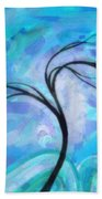 Abstract Landscape Painting Digital Texture Art By Megan Duncanson Bath Towel
