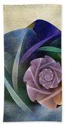 Abstract Rose Bath Towel