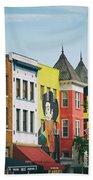 Adams Morgan Neighborhood In Washington D.c. Bath Towel