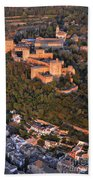 Aerial Photo  Alhambra And Albaycin In Granada Bath Towel