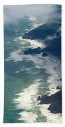 Aerial View Of Tasman Sea Shore Nz North Island Bath Towel