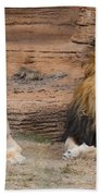 African Lion Couple Bath Towel