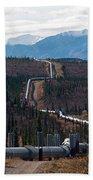 Alaska Oil Pipeline Bath Towel