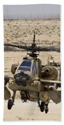 An Ah-64a Peten Attack Helicopter Bath Towel