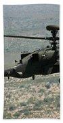 An Apache Ah64d Helicopter Bath Towel