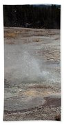 Anemone Geyser In Upper Geyser Basin Bath Towel