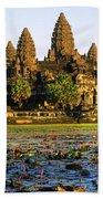 Angkor Wat At Sunset - Cambodia Bath Towel