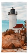Annisquam Lighthouse Bath Towel