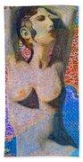Aphrodite And Ancient Cyprus Map Bath Towel