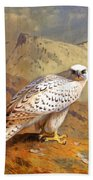 Greenland Falcon Bath Towel