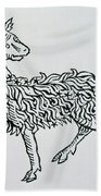 Aries An Illustration From The Poeticon Hand Towel