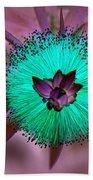 Artistic Bottle Brush Flower Bath Towel