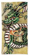 Asian Dragon Bath Towel