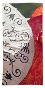 Asian Umbrellas Bath Towel